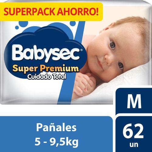 Pañal Bebé Babysec Super Premium 62 un M