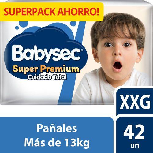 Pañal Bebé Babysec Super Premium 42 un XXG