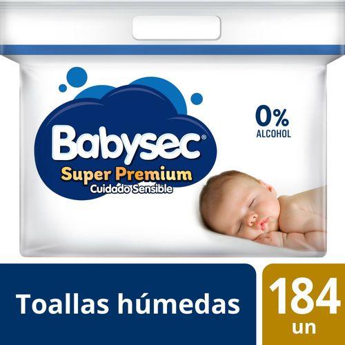 Toallas Húmedas Babysec Super Premium 184 un