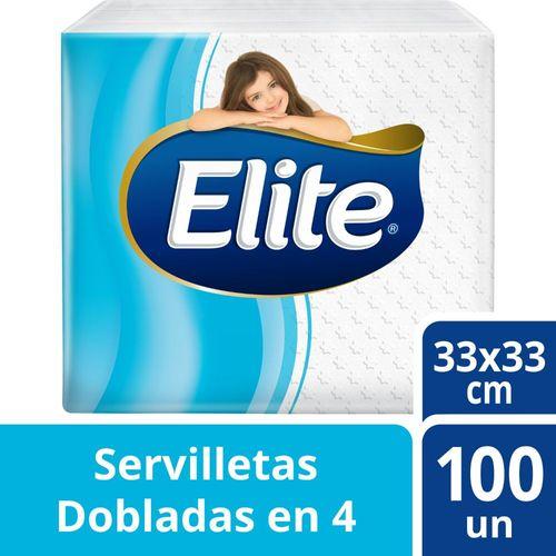 Servilleta Elite Dobladas En 4 Blanca 100 un