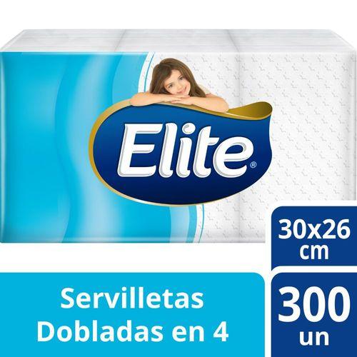 Servilleta Elite Dobladas En 4 Blanca 300 un