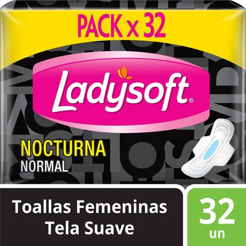 Toallas Femeninas Ladysoft Nocturna Tela 32 un
