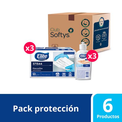 Pack protección y cuidado, mascarillas y alcohol gel