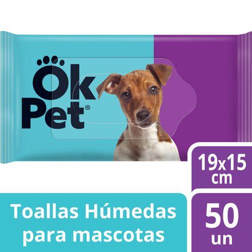Toallas Húmedas Para Mascotas Ok Pet 50 un
