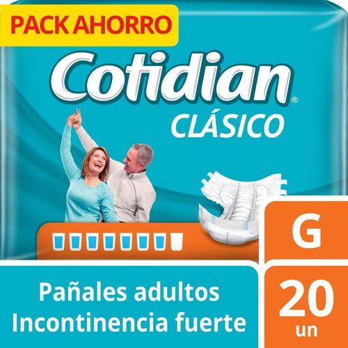 Pañal para adulto Cotidian Clásico 20 un G