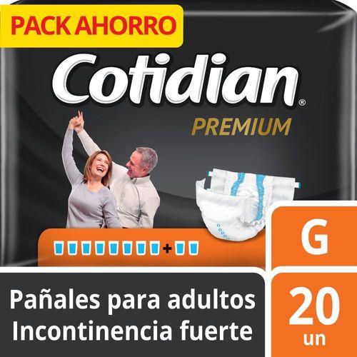 Pañal para adulto Cotidian Premium 20 un G