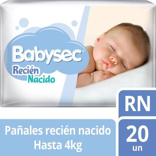 Pañal Bebé Babysec Recién nacido 20 un