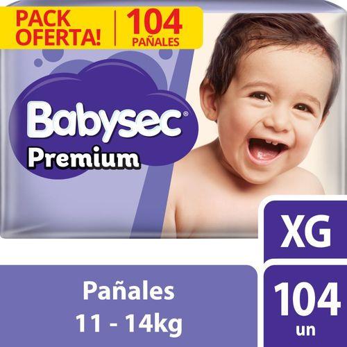 Pañal Bebé Babysec Premium 104 un XG