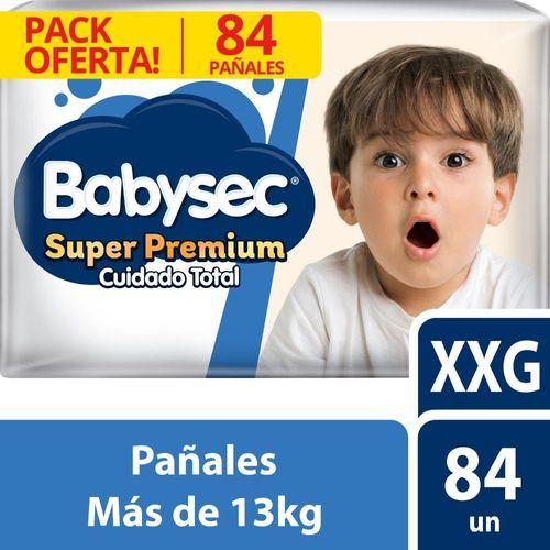 Pañal Bebé Babysec Super Premium 84 un XXG