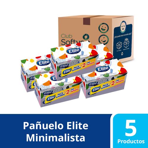 Pack pañuelo facial Elite minimalista de 800 unidades