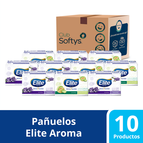 Pack pañuelos Elite Aroma de 60 unidades