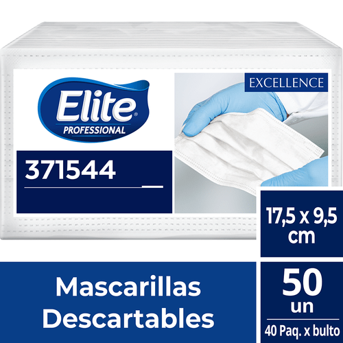 Mascarilla Elite Professional Excellence 50 un