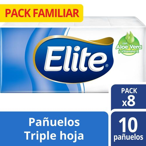 Pañuelos Desechables Elite Aloe Vera Regular 8 un