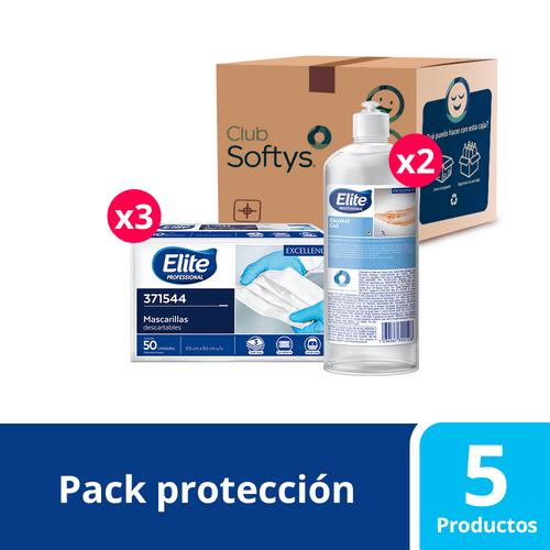 Pack protección y cuidado, mascarillas y alcohol gel 2