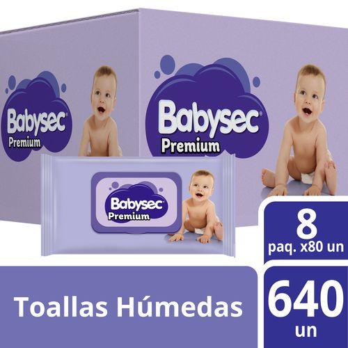 Toallas Húmedas Babysec Premium 640 un