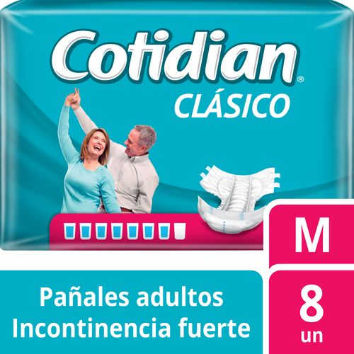 Pañal De Adulto Cotidian Clásico 8 un M
