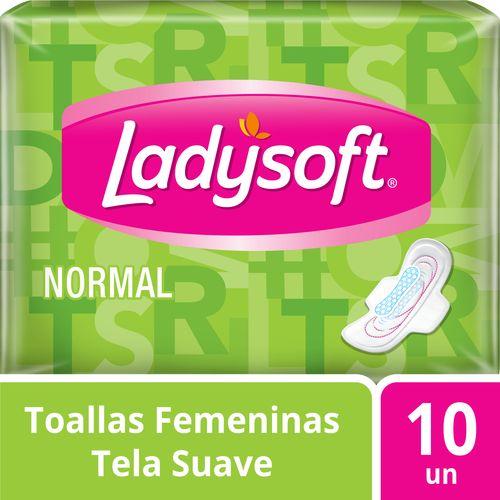 Toallas Femeninas Ladysoft Normal Tela 10 un