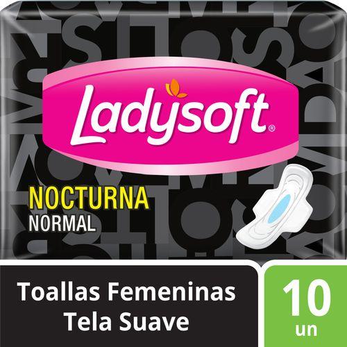 Toallas Femeninas Ladysoft Nocturna Tela 10 un